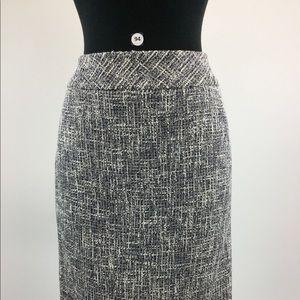 Kasper Tweed Gray Straight Skirt Size 6P (B-94)